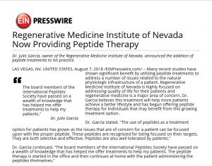 Our Blog - Regenerative Medicine Institute of Nevada